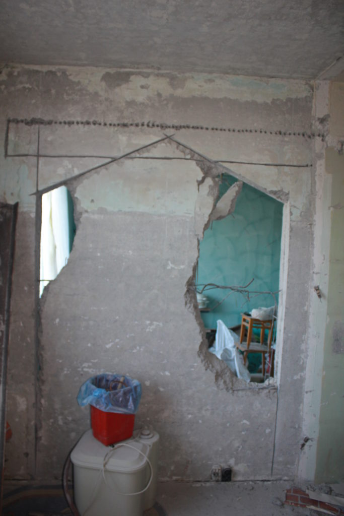 демонтаж несущей стены