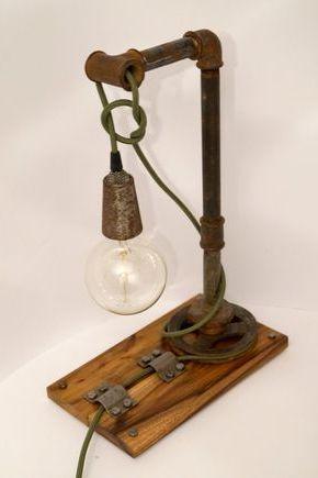 Настольная лампа в индустриальном стиле